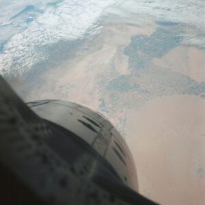 Hranice Kalifornie a Mexika zachycená fotoaparátem Johna Younga