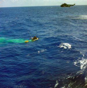 Molly Brown se kolébá na vlnách Atlantiku