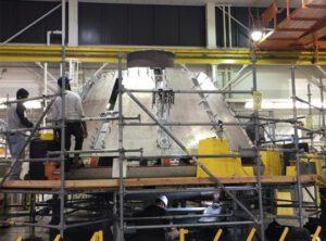 Testovací kabina Orionu pro AA-2 v Langley, listopad