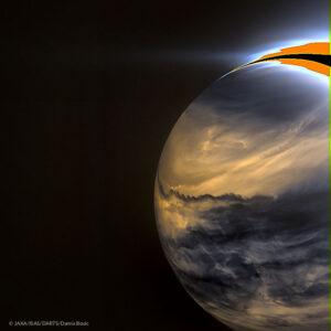 Noční strana Venuše zachycená infračervenou kamerou