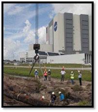 Výkopové práce u montážní haly VAB.