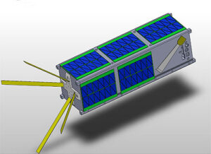 Vizualizace družice NMTSat, která poletí na misi ELaNa XIX