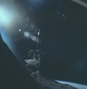 Dokonale vyřešená situace po výpadku radaru: pohled z okénka Gemini těsně před spojením s Agenou