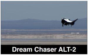 Dream Chaser při testovacím letu ALT-2