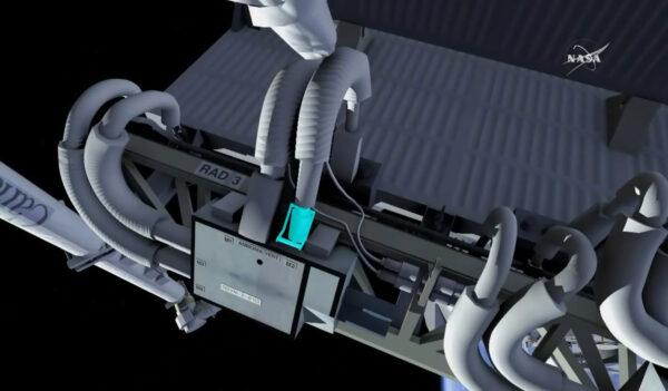 Vizualizace odpojení čpavkových propojek.