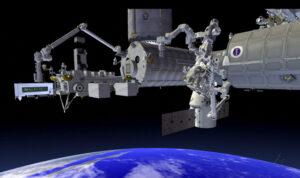 Umístění přístroje ECOSTRESS na ISS.