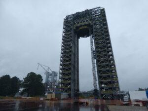 Stanoviště 4693 na Marshallově středisku pro strukturální zkoušky vodíkové nádrže.