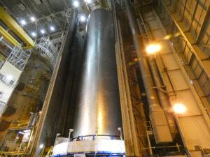Jen několik dní stará fotka letové vodíkové nádrže.