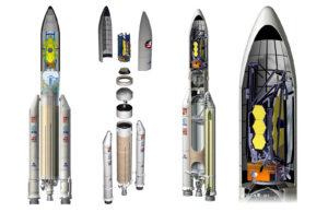 Uložení Webbova teleskopu do aerodynamického krytu Ariane 5.