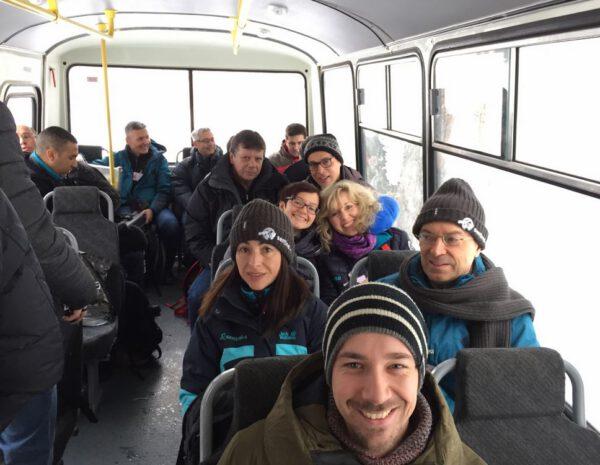 Jako mnozí z nás, jezdí i členové týmu Sentinel 3B do práce autobusem