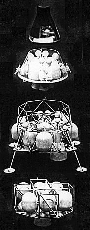 Jedna z konfigurací lunární záchranné lodě odvozené z Gemini