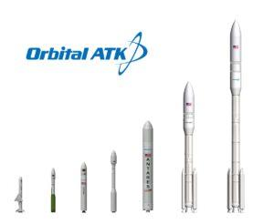 Raketové portfolio firmy Orbital ATK - dnes součást firmy Northrop Grumman - všechny používají motory na tuhé pohonné látky.