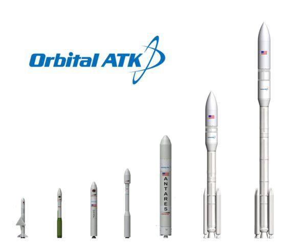 Raketové portfolio firmy Orbital ATK - slabší a silnější verze rakety OmegA jsou na pravé straně.