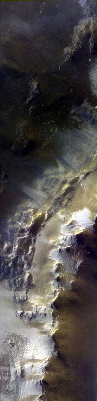 Koroljovův kráter na snímku ze sondy TGO.