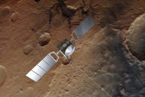 Mars Express nad Marsem
