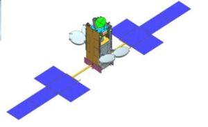 Vizualizace družice GSAT-11.