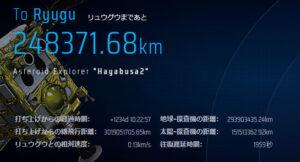 Údaje na webu mise Hayabusa-2 20. dubna v 16:45 SELČ.