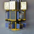 Model vypouštěcího adaptéru malých družic pro raketu Vega
