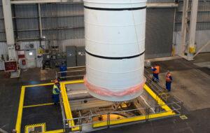Výrobě segmentu urychlovacího motoru rakety SLS pro misi EM-1.