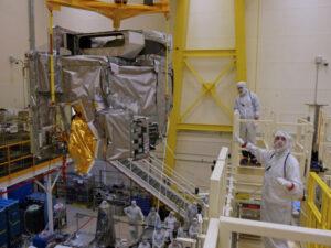 Instalace přístroje ABI na družici GOES-S (dnes GOES-17)