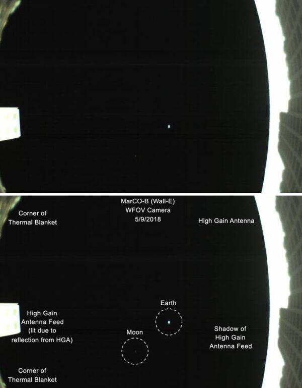 Fotografie Země a Měsíce z cubesatu Wall-E