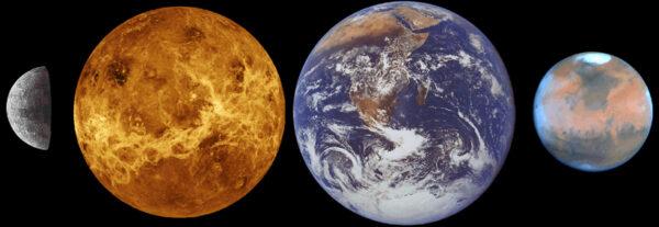 Merkur - Venuše - Země - Mars - kamenné planety Sluneční soustavy mají některé věci společné, ale v mnoha jiných se výrazně liší.