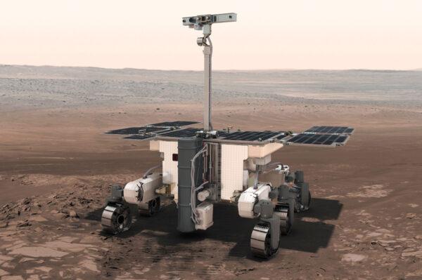 Vizualizace vozítka pro misi ExoMars 2020