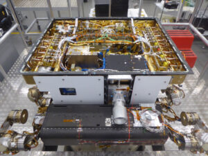 Útroby strukturálního modelu roveru pro misi ExoMars.