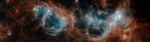 Takto zaznamenal rodící se hvězdy a molekulární oblaka evropský teleskop Herschel.