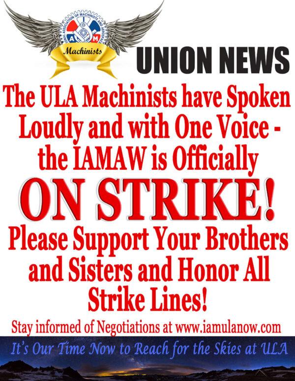 Oficiální potvrzení stávky.