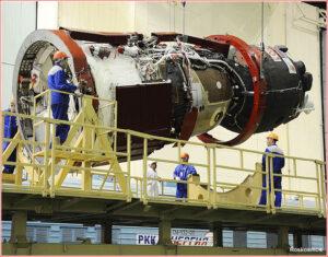 Sojuz MS-1 během předstartovní přípravy