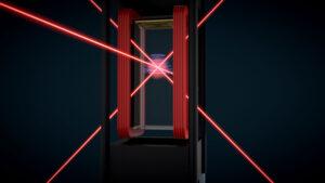 Vizualizace principu přístroje CAL (Cold Atom Lab).