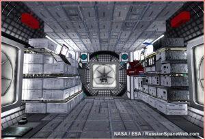 Interiér obytného modulu NASA představený v roce 2017.