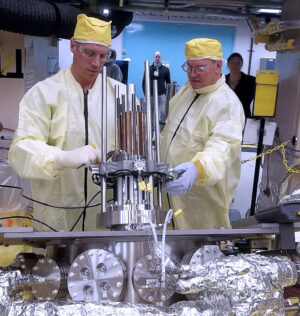 Prototyp reaktoru Kilopower při testech
