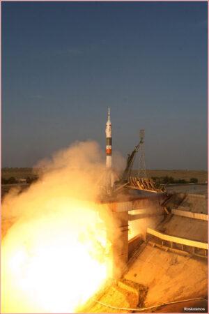 Start první lodi Sojuz MS - zde na Sojuzu FG