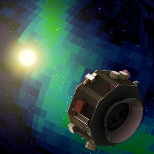 Vizualizace sondy IMAP (Interstellar Mapping and Acceleration Probe)