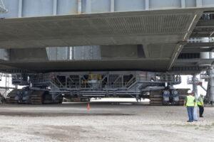 Pásový transportér během zkoušek pod ML.
