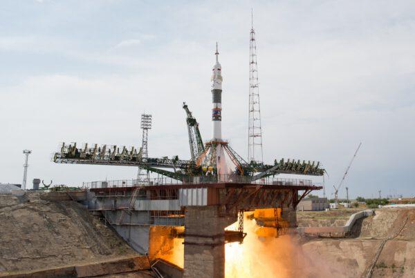 Sojuz FG startuje