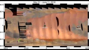 Bouře zasáhla čtvrtinu území Marsu - plochu srovnatelnou s rozlohou Ruska a USA dohromady.