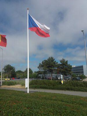 Česká vlajka v ESTECu