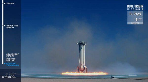 Přistání boosteru