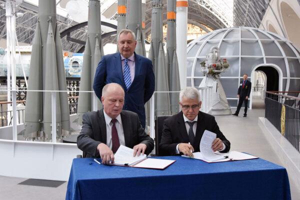Podpis smlouvy o Sojuzu 5 mezi korporací Roskosmos a kanceláří Eněrgija.