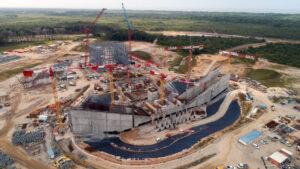 Stavba startovní rampy pro Ariane 6 v dubnu 2018.