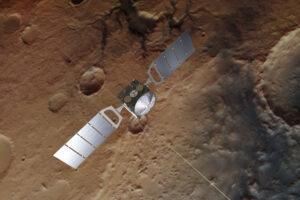 Sonda Mars Express disponuje dvacetimetrovými anténami radarového systému.