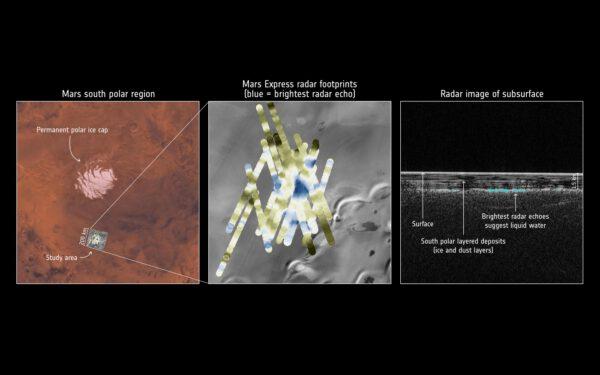 Mars Express detekoval tekutou vodu