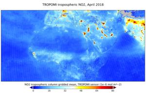 Rozložení oxidu dusičitého v atmosféře