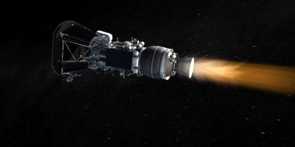 Parker Solar Probe při práci třetího stupně Star 48BV.