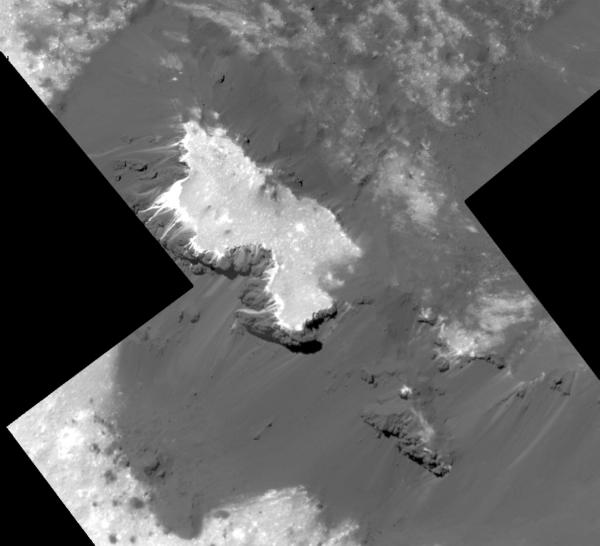 Cerealia Facula na západě kráteru Occator