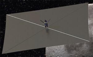 NEA Scout při svém letu k asteroidu