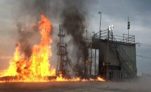 Exploze po dopadu MOMO-2